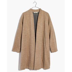 Madewell Stanza Herringbone Coat in Camel
